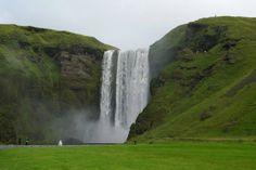 Zaujímavosti zo sveta - Fotoalbum - Krásy sveta - vodopád Skogafoss