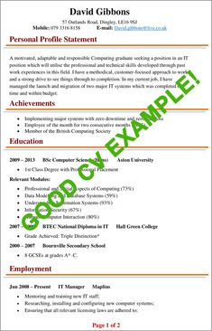 CV Examples | Example of a good CV (+ biggest mistakes to avoid!) Free Online Resume Templates, Best Cv Template, Cv Design Template, Basic Resume Examples, Professional Resume Examples, Resume Template Examples, Writing Template, Letter Templates, Curriculum Vitae Format