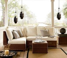 Outdoor Garden Furniture Designs by Pottery Barn « Beach Home Decorating.We have the best gallery of the latest Outdoor Garden Furniture Designs by Pottery Barn Picture, Image and Wallpaper. Outside Furniture, Porch Furniture, Outdoor Garden Furniture, Furniture Layout, Furniture Design, Furniture Ideas, Lounge Furniture, Furniture Placement, Rattan Furniture