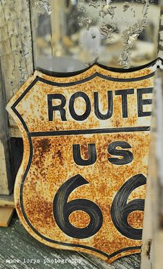 Rusty Route U.S. 66 Sign