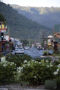 Shot of downtown Apia - Samoa