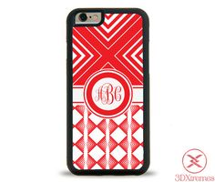 Monogram iPhone Case  Monogrammed iPhone Case  by 3DXtremes