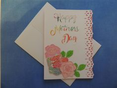 Mother's Day Card - Pink Roses - Free Shipping by LagniappeEmporium on Etsy
