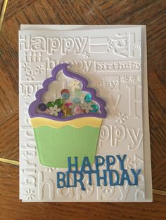 Taylored Expressions Sweet Tooth Happy Birthday Embossing Die Wish
