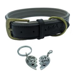 Premium Genuine Leather Soft Padded Dog Collar >>> Don't get left behind, see this great dog product : Collars for dogs