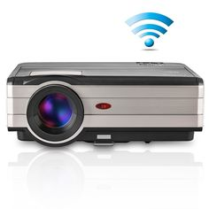 CAIWEI Wireless Android LCD Projector LED Full HD Support 1080P Home Theater Cinema Entertainment Projector Native Resolution 1080x800 3500 Lumens with HDMI USB AV VGA Interface for Video Game TV. Brightness:3500 Lumens, Native Resolution:1280x800(support 1080p/720p videos and images), images size:50-150 inches, Projection distance:4.3-16.4FT, Image Aspect Ratio: 16:9 or 4:3. LED Lamp lasts over 50000 hours. ALL YOU NEED IS WiFi: No need for HDMI cables with this Wireless Projector…