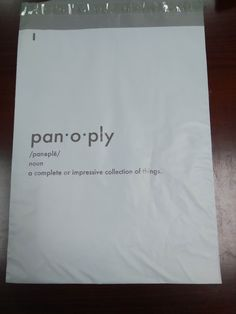 Panoply Clothing Co Poly Mailer Bag Business Men Clothes Bags