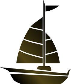 Simple Sailboat Clip Art