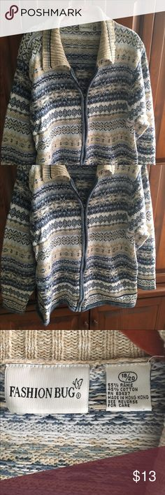 Cardigan sweater with great colors in EUC Comes from pet friendly smoke free home. I am just cleaning my closet & trying to get some cash for kids college fund. I have lots of items still NWT & NWOT along with some in EUC so please take look at my listings. Bundles & offers welcome! Happy poshing! Fashion Bug Sweaters Cardigans