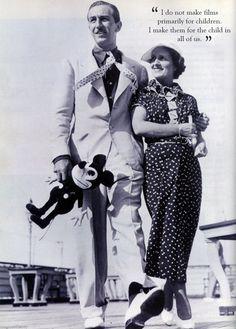 Walt and Lillian on board a ship.