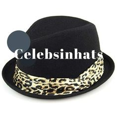 Hawkins women s felt rolled brim trilby hat with satin leopard print band -  Black 43409726a9fe