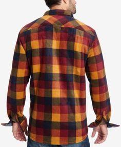 Weatherproof Vintage Men's Plaid Fleece-Lined Jacket - Yellow XXXL