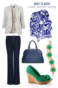 What to Wear: A Casual Business Meeting. I love green shoes!
