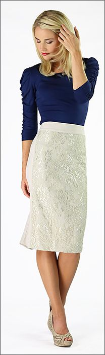 Modest IS Hottest! - lace panel skirt cream, $45.00 (http://www.modestishottestcanada.com/lace-panel-skirt-cream/)