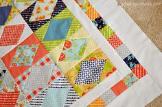 from Pixels to Patchwork: Crazy Old Ladies Best Friends Pattern with Happy-Go-Lucky Layer Cake + the Happy-Go Lucky Penny White.