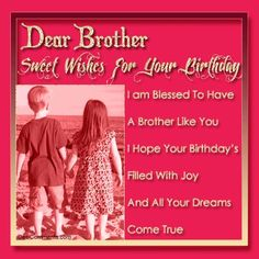 Birthday Quotes QUOTATION - Image : Quotes about Birthday - Description Happy Birthday Wishes For Brother Quotes Sharing is Caring - Hey can you Share this Quote Happy Birthday Brother Messages, Birthday Greetings For Brother, Happy 15th Birthday, Brother Birthday Quotes, Birthday Wishes Quotes, Best Birthday Wishes, Sister Birthday, Birthday Messages, Birthday Sayings