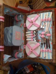 tableware for glamping...we already have several of these sets, but not in PINK!