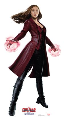 Scarlet Witch from Captain America Civil War Life-Size Cardboard Standup