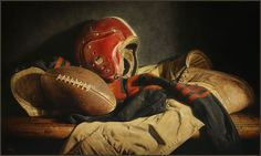"""""""Legends of the Game""""  22"""" x 36"""" oil on canvas  by Kyle Polzin"""