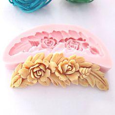 Peine Molde en forma de flores de silicona Fondant Moldes Azúcar herramientas artesanales de chocolate del molde para pasteles