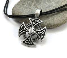 Cruz celta collar joyería céltica de lazos  hombres por StormyRoad