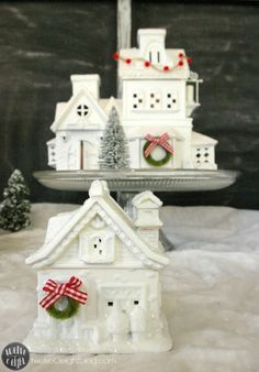 updated Christmas village