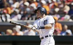 Detroit Tigers' Ian Kinsler watches his three-run home run during the fifth inning of a spring exhibition baseball game against the Toronto Blue Jays in Lakeland, Fla., Tuesday, March 18, 2014. (AP Photo/Carlos Osorio)