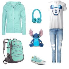 """Cute """"Stitch"""" Outfit made by clumsycheetah on polyvore.com"""