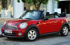 Red Mini Cooper Convertible <3