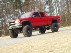 red 1990's Chevrolet