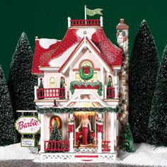"Department 56: Products - ""Barbie™ Boutique"" - View Lighted Buildings"