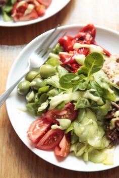 Big Salad and Avocado dressing