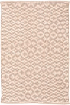 #DashandAlbert Petit Diamond Dusty Pink/Ivory Indoor/Outdoor Rug. We've updated our best-selling Diamond indoor/outdoor rugs with a smaller pattern and springlike, pale pink hue. With this durable, scrubbable, and bleachable area rug, diamonds really are forever!