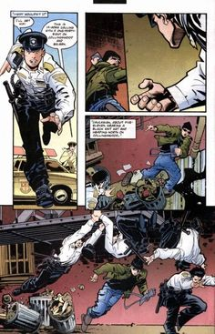 Officer Grayson in action 1/2 (1996 Nightwing #75)