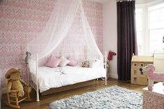 Little Girls Room Decorating Ideas With Fur Rug