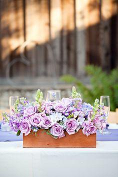 Lavender Floral Wedding Centerpiece   Wedding Decor