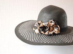 BLACK sun hat  Mid brim hat  Summer hat  Spring hat  by LALcouture