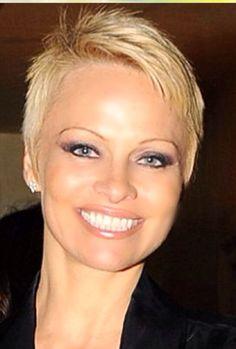 Pamela Anderson Pixie Haircut
