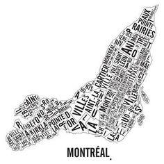 Quartiers de Montréal, sérigraphie — Nüspace