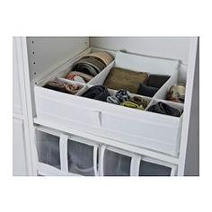 "$7.99 SKUBB Box with compartments, white - 17 ¼x13 ½x4 ¼ "" - IKEA"