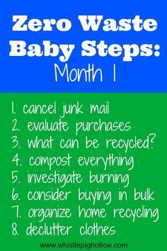 Zero Waste Baby Steps: Month 1 | Whistle Pig Hollow