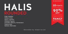 Font dňa – Halis Rounded (zľava 90%, rodina 13,70€) - http://detepe.sk/font-dna-halis-rounded-zlava-90-rodina-1130-e/