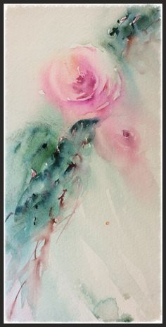 """""""Together"""" Roses in Warercolour by Jean Haines"""