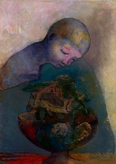 Redon, Odilon (1840-1916) - 1894c. The Cup of Fate