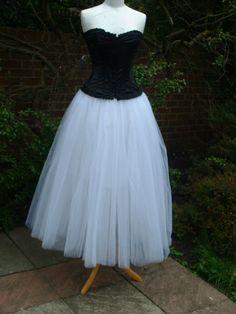 long white tutu skirt adult wedding petticoat by darkestdreams