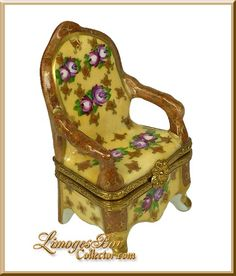 Floral Chair Limoges Box Retired.