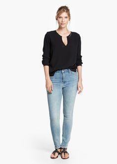 Metal appliqué blouse