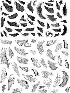 Alas k tattoo, tattoo wings, wing tattoo designs, angel tattoo desi Wing Tattoo Designs, Angel Tattoo Designs, Skull Tattoo Design, Dragon Tattoo Designs, Tattoo Drawings, Body Art Tattoos, Dove Tattoos, Small Wing Tattoos, Eagle Wing Tattoos
