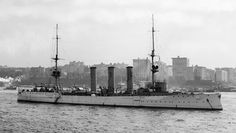 SMS Dresden, one of the German ships at the Battle of the Falkland Islands 8th December 1914 http://www.britishbattles.com/battle-of-the-falkland-islands/