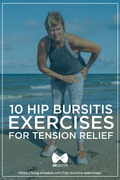 10 Hip Bursitis Exercises For Tension Relief Hip bursitis can be very painful and difficult to live with but we are here to help you ease the discomfort with a list of hip bursitis exercises # Hip Bursitis Exercises, Bursitis Hip, Back Exercises, Stretching Exercises, Stretches, Knee Strengthening Exercises, Hip Flexors, Best Exercise For Hips, Hip Pain Relief